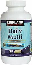 Kirkland Signature Daily Multi Vitamins & Minerals Tablets, 500-Count 02/28/21