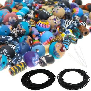 150 PCS Assorted Polymer Clay Beads for Jewelry Making