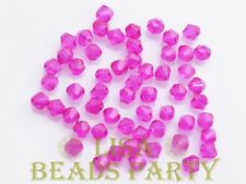 100pcs 4mm Bicone Faceted Crystal Glass Loose Spacer Beads BULK Red