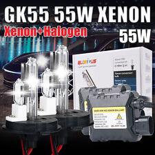 55W HID Kit Conversion Xénon Hi-Low Ampoules Feux SLIM ballast 8000K H4