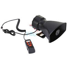 60W 12V for Car Truck Loud Horn Siren Police Ambulance Fire Alarm With MIC 300db