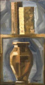 """Kubist Anatoliy Chudinovskikh """"Chudinovskikh-Pyramide 2"""" Öl Leinwand 55x30 cm"""