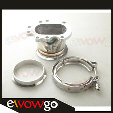 """GT25R GT28R GT28RS TO 3"""" INCH V-BAND VBAND CLAMP FLANGE DOWNPIPE ADAPTER KIT"""