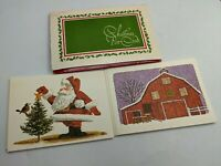 24 NOS VTG MCM XMAS POSTCARD GREETING CARDS  SET ART RARE RETRO MID CENTURY-70S