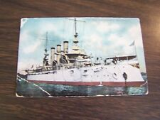 VINTAGE - U,S, BATTLESHIP - NEW JERSEY  - POST CARD