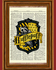 Hufflepuff Harry Potter Dictionary Art Print Book