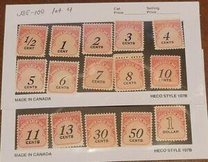 Scott#: J88–J100, J102-103 beautiful complete set of postage dues MNH OG- lot 4