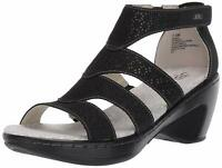 JBU by Jambu Women's Bianca Wedge Sandal, Black, Size 8.5 Wjkt