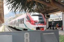 PHOTO  ITALY RAILWAY SICILY PALERMO STAZIONE CENTRALE WITH FS TRAIN
