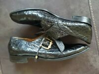 Mens MAURI SHOES- Alligator Skin- Made In Italy- Size 11.5- Beautiful Condition