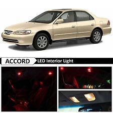12x Red Interior LED Lights Package Fits 1998-2002 Honda Accord Sedan