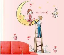 Moon Lover girl boy Home Bedroom Decor Removable Wall Sticker Decal Decorations