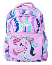 "LATEST! SMIGGLE💜 ""FAVE'"" BACKPACK SCHOOL BAG PURPLE, 🦄 MAGICAL UNICORN"
