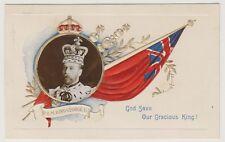 Royalty postcard - King George V - Embossed