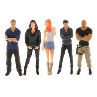 5x 1/64 Hand Miniature Doll Scenario Figures Woman Doll Table Accessory