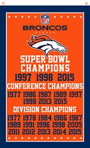 Denver Broncos Champion Flag Team Memorable Flag 90x150cm 3x5ft best banner
