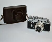 "COLLECTIBLE! 1957 RUSSIAN USSR ""ZORKI-2C WORLD YOUTH FESTIVAL"" +INDUSTAR-50 lens"