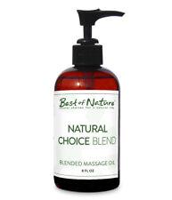 Best Of Nature Natural Choice Blend Massage & Body Oil W Pump Bottle - 8 Ounces