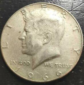 1966-P 50c Kennedy Half Dollar 40% Silver