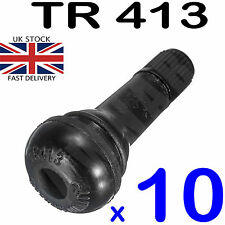 10 X TR413 SHORT SNAP IN RUBBER TYRE VALVES MOPED MOTORBIKE CAR QUAD LAWNMOWER