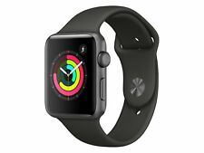Apple Watch Series 3, 42 mm, Aluminiumgehäuse space grau, Sportarmband grau