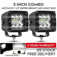 2x 3inch 120W CREE LED Work Light Cube Pods Driving Work Fog SPOT Light /FLOOD
