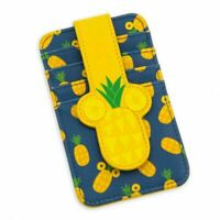 Disney Parks Mickey Icon Pineapple Ears Credit Card Holder ID Wallet Case - NEW