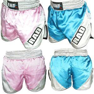 Kids Girls Muay Thai Boxing Shorts MMA Kick Fighting Grappling Martial Art Short