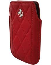 FEMAIPRE Etui cuir rouge Ferrari Challenge pour iPhone