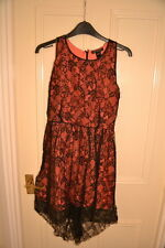 MNG Mango Black & Orange Lace Dress Size S