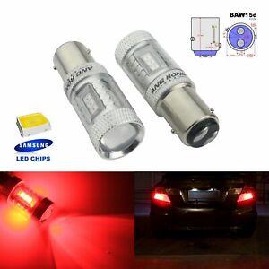 Red PR21/5W 780 BAW15d LED Bulb Sidelight Indicator Tail Stop Brake Light Lamps