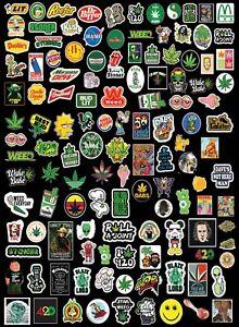 "marijuana ganja pot weed bong herb stickers vinyl cut. small 1"" X 1"" Lot of 126"