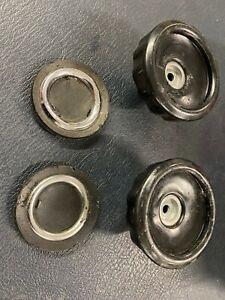 Aston Martin DB6 USED Quarterlight winding knob & Embelisher (pair)