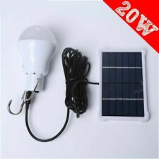 15W Solar Powered LED Light Bulbs Outdoor Indoor Camping Rechargeable Lamp K7F6