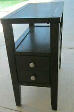 Wood End Table Nightstand Accent Table Espresso Brown Color
