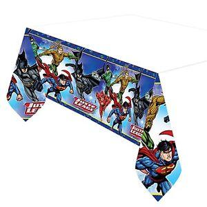 Justice League Plastic Tablecover Childrens Party Tableware Batman Superman