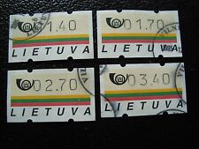 LITUANIE - 4 timbres distributeur oblitere (A33) stamp