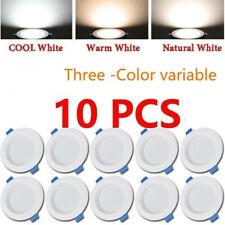 10PC 5W/9W/12W Recessed Ceiling 3 color LED Downlight Indoor Spotlight 110V 220V