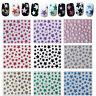 Nail Art 3D Glitter Stickers Decals Christmas - Stars
