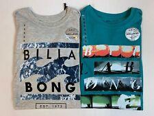 "New, Lot of 2, Billabong, ""Wave Scene"" T-Shirts, Small, Slim Fit"