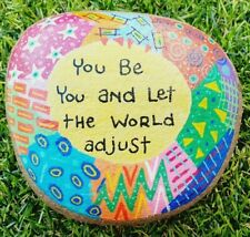 Hand painted pebble stone rock art You be You and let .... inspirational message