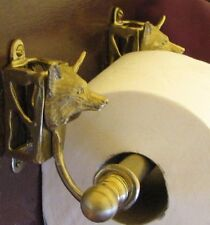 FOX Bronze Toilet Paper Holder, OR Paper Towel Holder, Fox Hunting!