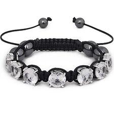 Iced Out Unisex Bracelet - PRONG SHAMBALLA claire