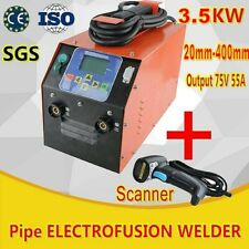 Plastic Electrofusion Welding Machine HDPE Fusion Welder+Scanner 20-400mm Fit