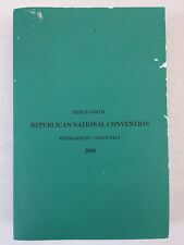 Thirty-Ninth Republican National Convention 2008 John McCain Sarah Palin PB Book