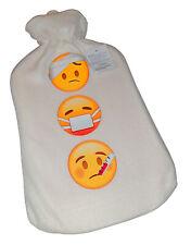 Wärmflasche Wärmeflasche Wärmekissen mit Smiley / Emoji Motiv 2l, Naturgummi