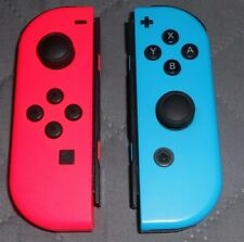 Nintendo Switch Joy Con Controllers Neon Red & Blue Set B