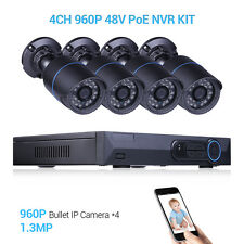 4CH  Security Cameras Network P2P NVR Kits 960P Survrillance HD CCTV System