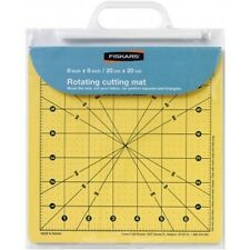 "Fiskars 8"" x 8"" Rotating Cutting Mat - Cut and Turn, Patchwork, Quilting, Ruler"