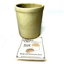 New listing The Pampered Chef Stoneware Bread Baking Crock With Recipes Original Packaging